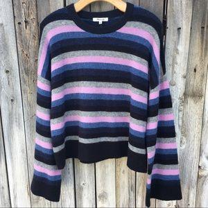 NWT Madewell Cardiff Stripe Crewneck Sweater S